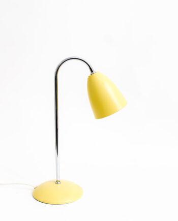 Vintage Hema bureaulamp lichtgeel