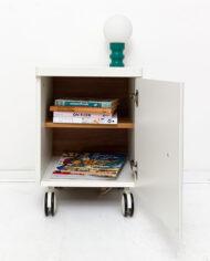 Vintage Ikea Vinstra wit kunstoffen kastje op wielen