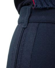 Vintage Jean Paul Gaultier Junior zwarte broek met geregen details