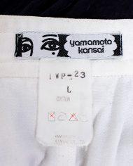 Vintage Kansai Yamamoto witte katoenen broek jodhpur stijl