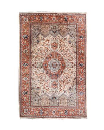 Vintage Perzisch vloerkleed met bruine tinten