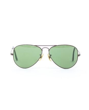 Vintage Ray-Ban Aviator B&L 3025 zonnebril mat bruin met case