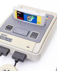 Vintage SNES Super Nintendo 1992 Super Mario World 2 controllers RCA aansluiting originele adapter