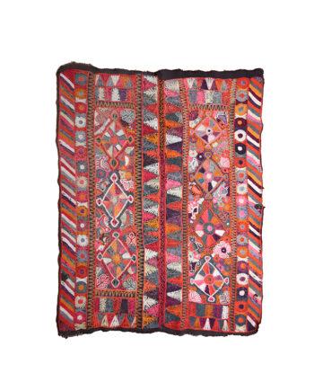 Vintage Suzani vloerkleed handgeborduurd met prachtige kleuren Oezbekistan