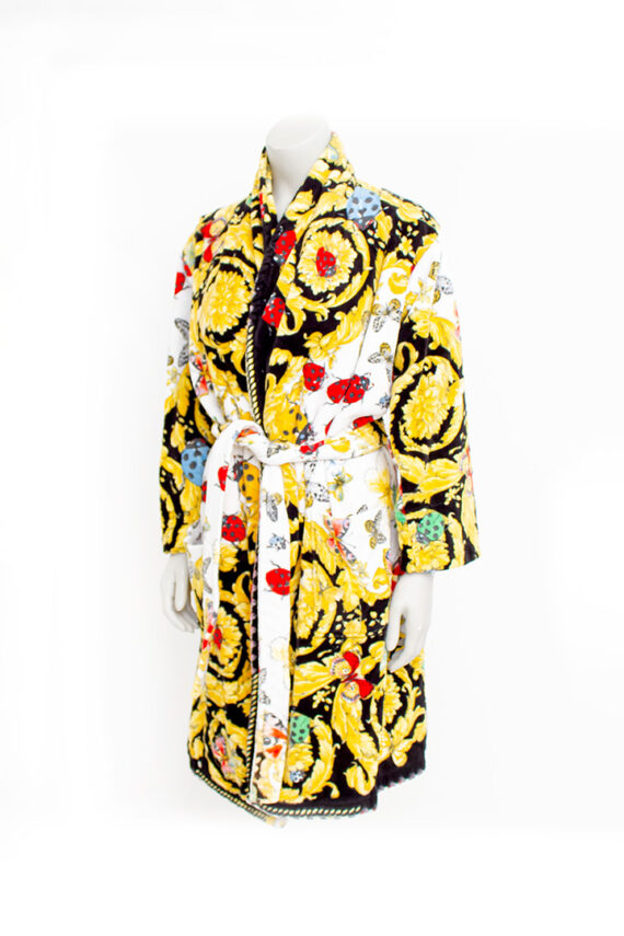 Vintage Versace barok badjas met bloemen