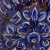 Vintage West Germany Carstens vaas blauw rood 7401-40