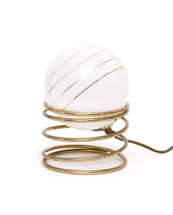 Vintage Woja tafellamp lookalike glazen bol op spiraal