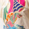 Vintage Yamamoto top van katoen en zijde met sculpted schouders en geborduurde drakenboot