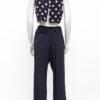Vintage Yohji Yamamoto zijden zwarte asymmetrische broek met overslag