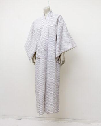 Vintage Yukata Japanse zomerkimono met fijn patroon