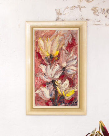 Vintage abstract schilderij Magnolias Duitsland