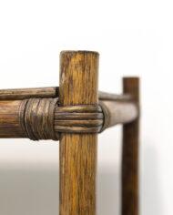Vintage bamboe kast rechthoekig met drie schappen