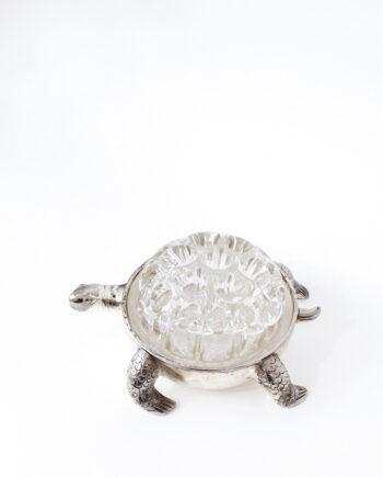 Vintage bloemenprikker schildpad