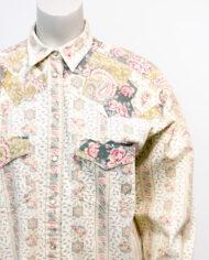 Vintage blouse romantische print met rozen en paisley-patroon Cacharel