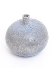 intage bolvaas lichtblauw van keramiek