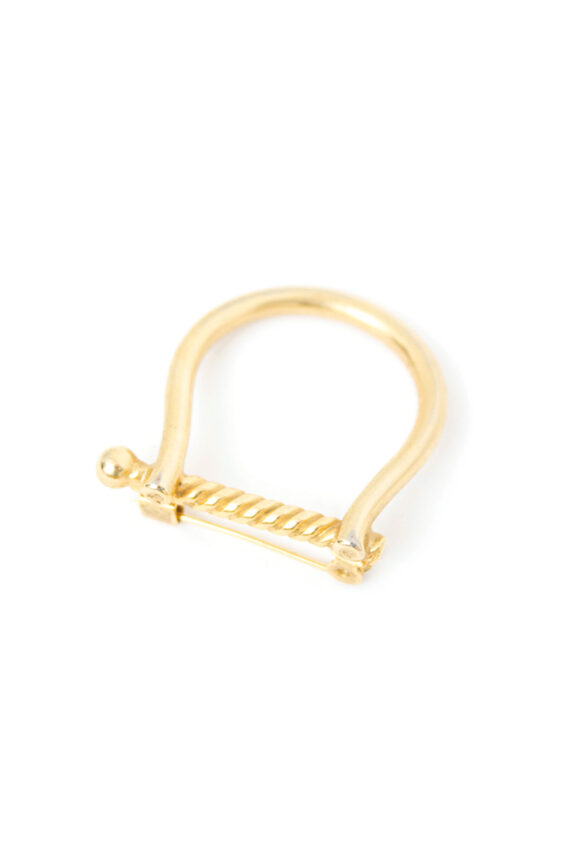 Vintage broche goudkleurige harp