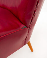 Vintage-cocktail-stoel-bordeaux-rood-skai-leer-7
