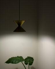Vintage dubbele kegellamp Deens design