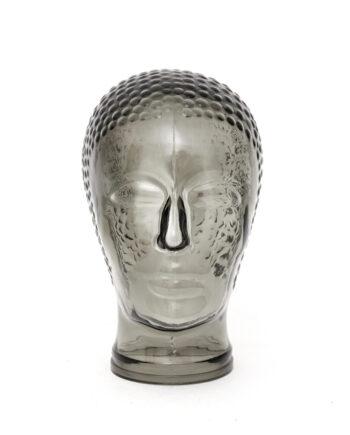 Vintage glazen hoofd jaren 70 zwart