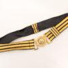 Vintage goud/zwarte riem House Couture Junior Gaultier jaren 80