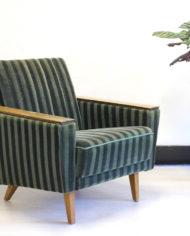 Vintage-groene-velours–fauteuil-Deens-Jaren-60-2