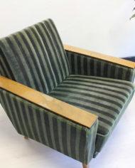 Vintage-groene-velours- fauteuil-Deens-Jaren-60-3