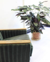 Vintage-groene-velours- fauteuil-Deens-Jaren-60-4