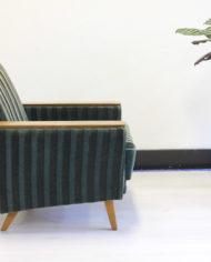 Vintage-groene-velours- fauteuil-Deens-Jaren-60-5
