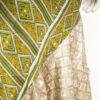 Vintage groene zomerjurk van zijde