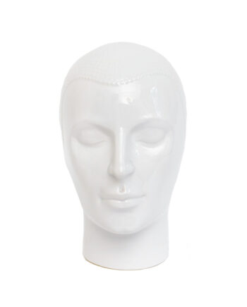 Vintage hoofd wit keramiek Royal Delft jaren 70