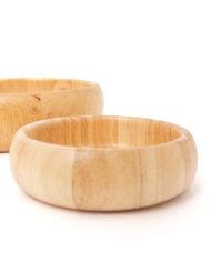 Vintage houten schalen – set van 2