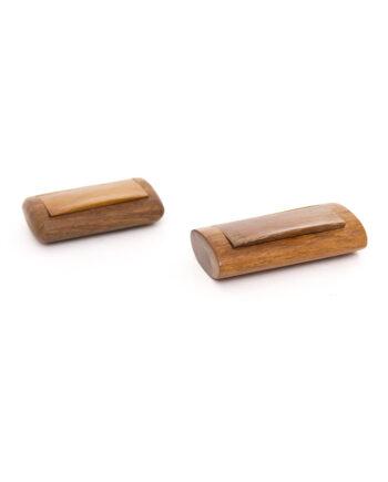Vintage houten snuifdoos voor snuiftabak vintage