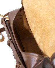 Vintage jaagtas van bruin leer