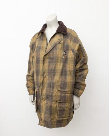 Vintage jas Donaldson Disney bruin geruit met Mickey Mouse