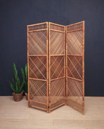 Vintage kamerscherm van bamboe