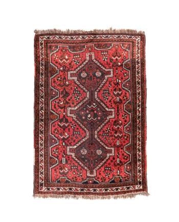 Vintage kelim vloerkleed rood
