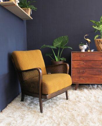 Vintage leunstoel / rookstoel / fauteuil jaren 50
