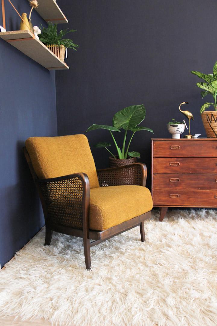 vintage leunstoel rookstoel fauteuil jaren 50 froufrou 39 s. Black Bedroom Furniture Sets. Home Design Ideas