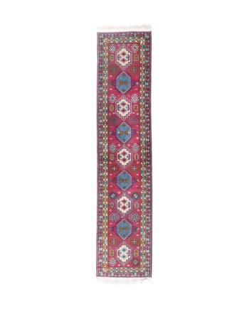 Vintage loper met geometrisch patroon 322x75 cm
