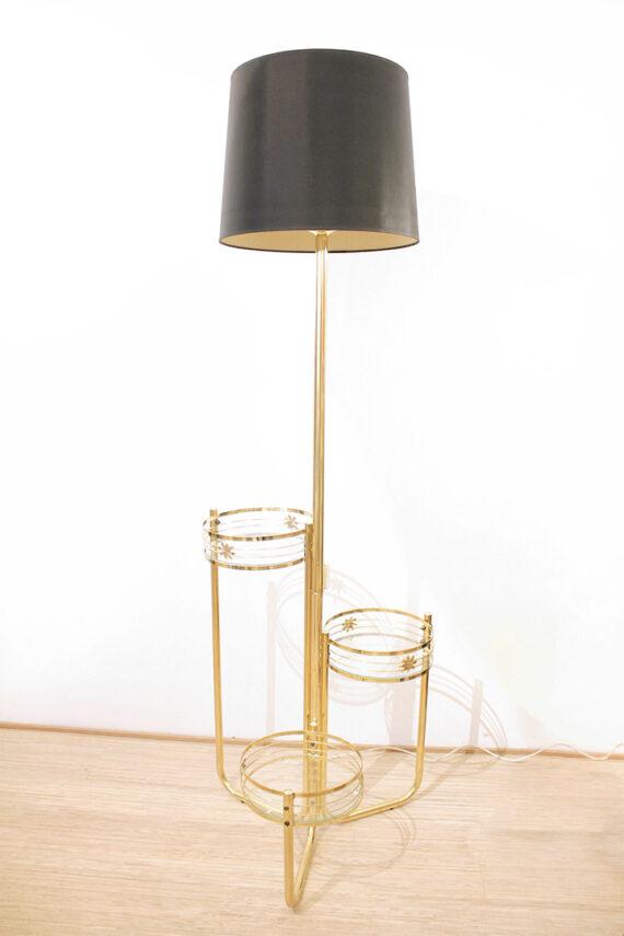 Vintage messing vloerlamp
