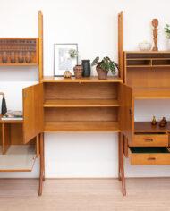 Vintage modulaire wandkast Edsbyn Mobelfabrik Zweden jaren 50