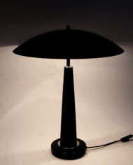 Vintage mushroom tafellamp zwart jaren 80 Hala
