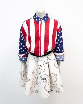 Vintage overhemd met sterren en strepen People from Ibiza