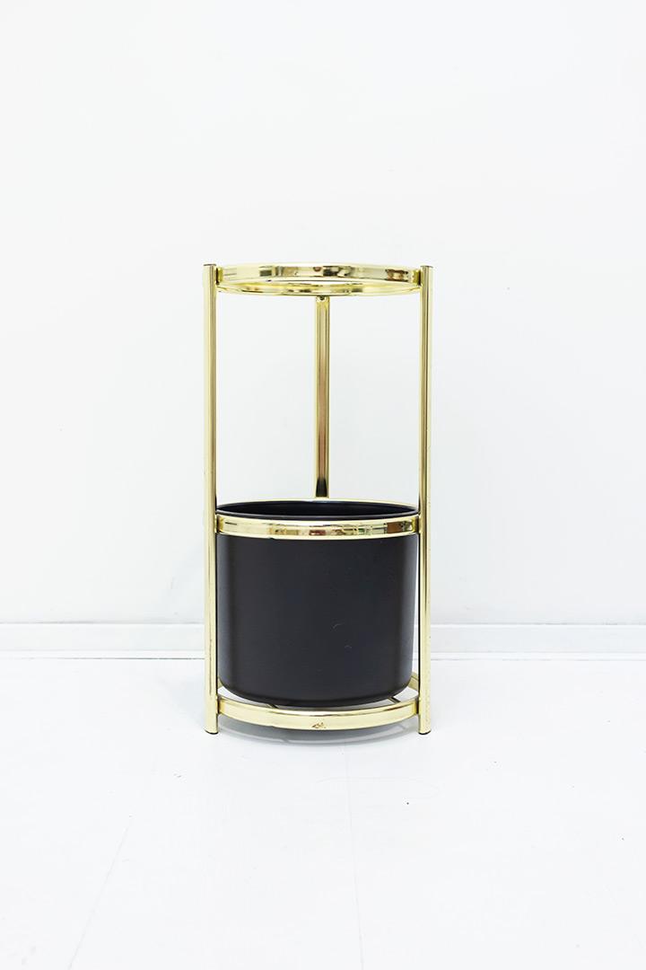 Vintage paraplubak van goudkleurig metaal Ypma Charme Holland 9023