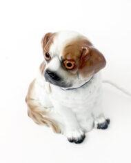 Vintage parfumlamp hond van keramiek jaren 50