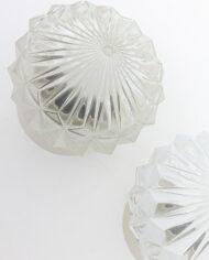 Vintage plafonnière glazen kap met facetten
