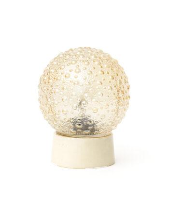 Vintage plafonnière met bubbel-reliëf