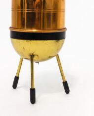 Vintage sigarettenhouder van koper en messing voor op tafel