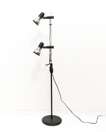 Vintage staande lamp met dubbele spots jaren 80