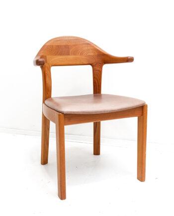 Vintage teakhouten stoel Holstebro Möbelfabrik Denemarken